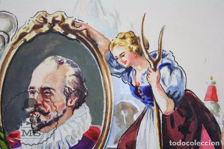 Vitolas de colección: Conjunto de 4 Acuarelas - Ilustraciones Originales para Vitolas y Habilitaciones de Tabaco - Foto 15 - 66686170