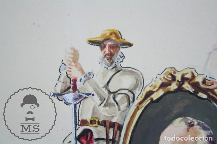 Vitolas de colección: Conjunto de 4 Acuarelas - Ilustraciones Originales para Vitolas y Habilitaciones de Tabaco - Foto 16 - 66686170