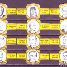 Vitolas de colección: SAELENS, JEFES DE ESTADO, S.M. - F.P. AMARILLO, 12 VITOLAS, SERIE COMPLETA.. Lote 66992122