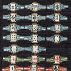 Vitolas de colección: VITOLAS. SERIE COMPLETA MURILLO - NAIPES, ROMBOS, (AMARILLO) 14 VITOLAS.. Lote 72401889