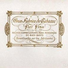 Anéis de charuto de coleção: LITOGRAFÍA - HABILITACIÓN - FLOR FINA.. Lote 73826047