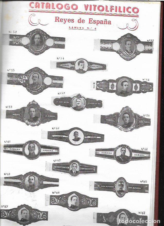 Vitolas de colección: CATÁLOGO VITOLFÍLICO GRÁFICO -1ER.TOMO -PERSONAJES DE LA CASA REAL ESPAÑOLA -AÑO 1960 - Foto 2 - 77215309