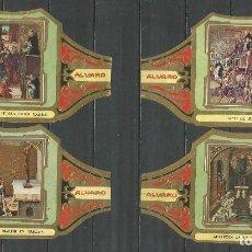 Vitolas de colección: ÁLVARO, CUADROS DE PINTORES ESPAÑOLES. BERRUGUETE SERIE 12 VITOLAS.. Lote 79930825