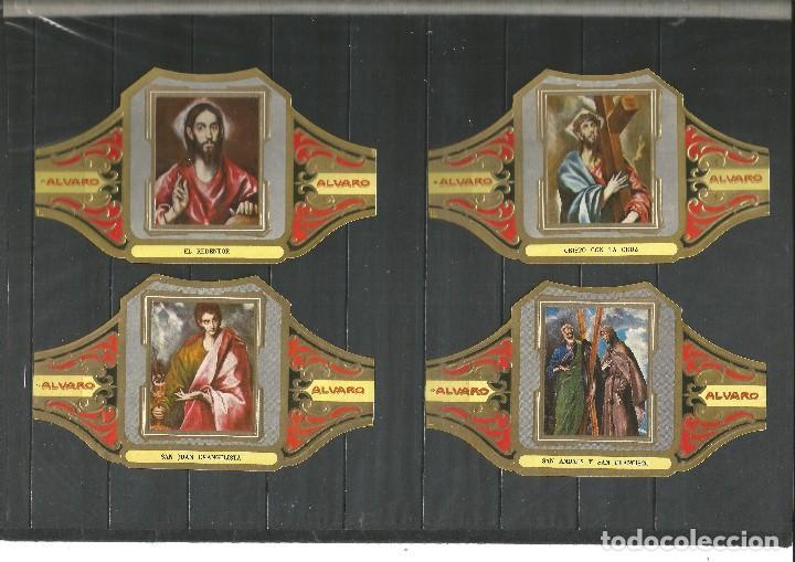 Vitolas de colección: ÁLVARO, CUADROS DE PINTORES ESPAÑOLES. EL GRECO. SERIE 12 VITOLAS. - Foto 2 - 79937733