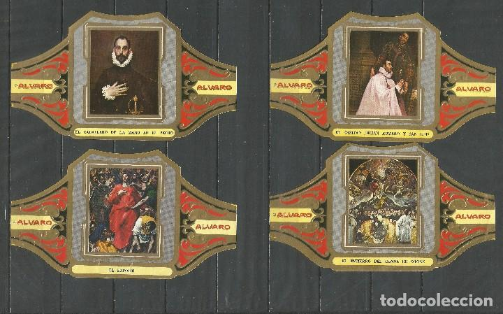 Vitolas de colección: ÁLVARO, CUADROS DE PINTORES ESPAÑOLES. EL GRECO. SERIE 12 VITOLAS. - Foto 3 - 79937733