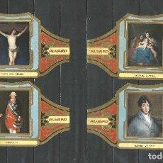 Vitolas de colección: ÁLVARO, CUADROS DE PINTORES ESPAÑOLES. GOYA SERIE 12 VITOLAS.. Lote 79939213