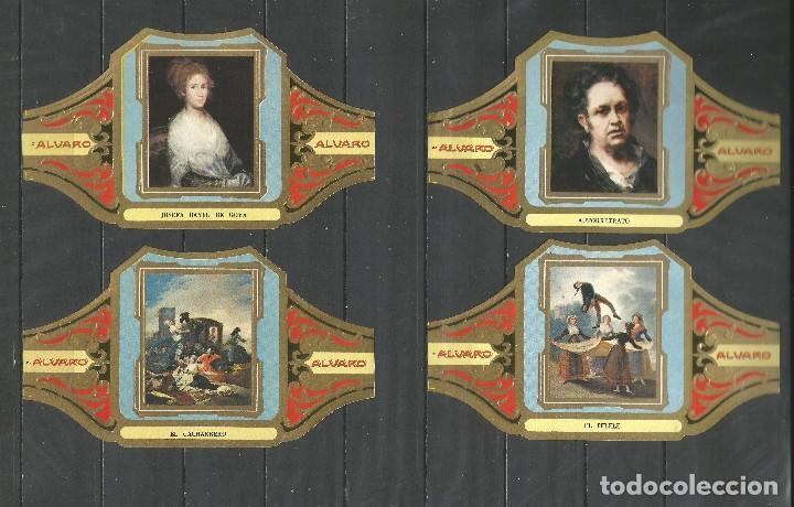 Vitolas de colección: ÁLVARO, CUADROS DE PINTORES ESPAÑOLES. GOYA SERIE 12 VITOLAS. - Foto 2 - 79939213