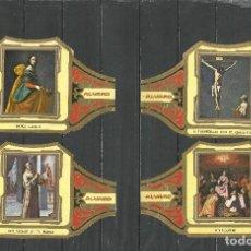 Vitolas de colección: ÁLVARO, CUADROS DE PINTORES ESPAÑOLES. ZURBARÁN SERIE 12 VITOLAS.. Lote 79940649