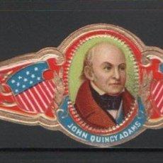 Vitolas de colección: VITOLA - RETRATO JOHN QUINCY ADAMS (PRESIDENTE USA). Lote 83325440