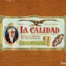 Anéis de charuto de coleção: VITOLAS. HABILITACIÓN - LITOGRAFÍA - LA CALIDAD. Lote 83356776