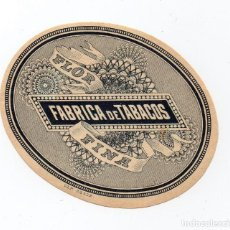 Anéis de charuto de coleção: LITOGRAFÍA - HABILITACIÓN - ETIQUETA FLOR FINA. 8 X 6,30 CM. Lote 83413804
