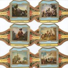 Vitolas de colección: VITOLAS SERIE COMPLETA ALVARO, GOYA,SERIE 2, 12 VITOLINAS. Lote 83629004
