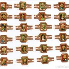 Vitolas de colección: VITOLAS. SERIE COMPLETA REINE ELISABETH - FÍSICOS FAMOSOS, 24 VITOLAS.. Lote 86344216