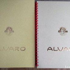 Vitolas de colección: LOTE DE 2 ALBUNES DE LA CASA ALVARO, CON 3 HOJAS (6 PAGINAS) CADA UNO. Lote 88911920