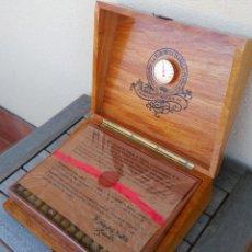 Vitolas de colección: TABACO,CAJA COMPLETA PUROS LA FLOR DE LA ISABELA,CENTENARIO 1881-1981,VITOLA FAMOSO POLITICO CATALAN. Lote 89438888