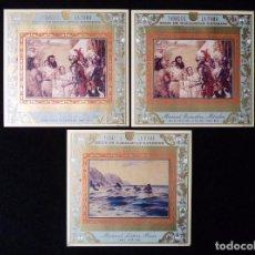 Vitolas de colección: LOTE 3 VITOLAS TABACOS LA FAMA. SERIE DE MURALISTAS CANARIOS. AÑO 2000. Lote 89890860