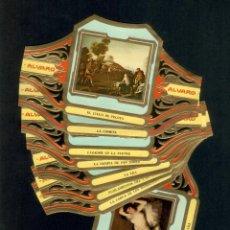 Vitolas de colección: SERIE CUADROS DE PINTORES ESPAÑOLES - GOYA II (COMPLETA 12 VITOLAS) - MARCA CANARIA ALVARO. Lote 90433684