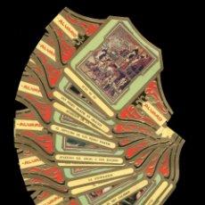 Vitolas de colección: SERIE CUADROS DE PINTORES ESPAÑOLES - BERRUGUETE (COMPLETA 12 VITOLAS) - MARCA CANARIA ALVARO. Lote 90433774