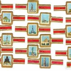 Vitolas de colección: JOHN BULL MARAVILLAS DEL MUNDO ANTIGUO Y NUEVO 20 VITOLAS SERIE COMPLETA. Lote 95284607