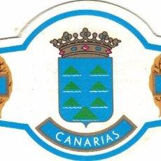 Vitolas de colección: M. LOPEZ ESCUDOS DE LAS ISLAS CANARIAS 8 VITOLAS GRANDES SERIE COMPLETA. Lote 96080031
