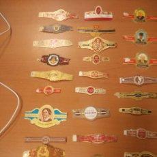 Vitolas de colección: LOTE DE 28 VITOLAS DIFERENTES DE VARIAS MARCAS. Lote 97205967