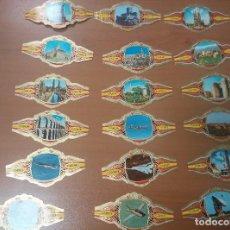 Vitolas de colección: COLECCION DE VITOLAS DE PUROSARQUITECTURA MONUMENTAL,CASTILLOS Y MARAVILLAS ESPAÑA,CONQUISTA ESPACIO. Lote 97333967