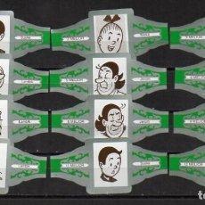 Vitolas. Serie Melior - Suske y Wiske. 12 vitolas.