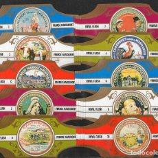 Vitolas de colección: ¡¡ OFERTA !!. ROYAL FLUSH. COLECCIÓN QUESOS (CAMEMBERT) ( 5 SERIES COMPLETAS, 50 VITOLINAS).. Lote 98956799