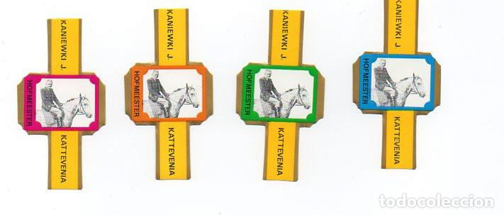 VITOLAS. SERIE COMPLETA VITOLAS PUBLICITARIAS HOFMEESTER - KATTEVENIA. 4 VITOLAS (Coleccionismo - Objetos para Fumar - Vitolas)