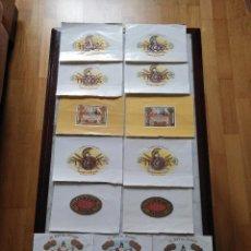 Vitolas de colección: 15 PAPELETAS DE DIFERENTES CAJAS DE PUROS.. Lote 101519851
