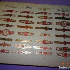 Vitolas de colección: ANTIGUAS VITOLAS 36 ANILLAS CLÁSICAS TODAS DIFERENTES DE JOSÉ GENER CIGARROS HABANA CUBA. Lote 101632551