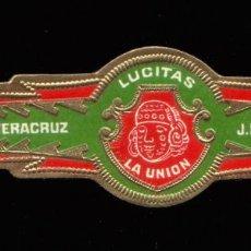 Vitolas de colección: VITOLA MEXICANA ANTIGUA - MARCA LA UNION - J. FUENTE SUCS. - LUCITAS - INDIO AMERICANO. Lote 256007170