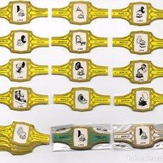 Sammlung von Banderolen - Vitolas. Serie Murillo - Gramófonos, verde, 24 vitolas. - 105471795