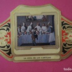 Vitolas de colección: VITOLA DE:CUADRO DE PINTORES ESPAÑOLES,LA CENA DE LOS CARTUJOS-ZURBARAN,SERIE II,DE ALVARO. Lote 106750335