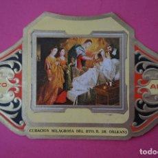 Vitolas de colección: VITOLA DE:CUADRO DE PINTORES ESPAÑOLES,CURACION MILAGROSA DE ORLEANS-ZURBARAN,SERIE II,DE ALVARO. Lote 106750979
