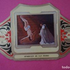 Vitolas de colección: VITOLA DE:CUADRO DE PINTORES ESPAÑOLES,APARICION DE SAN PEDRO-ZURBARAN,SERIE II,DE ALVARO. Lote 106751739
