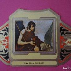 Vitolas de colección: VITOLA DE:CUADRO DE PINTORES ESPAÑOLES,SAN JUAN BAUTISTA-ZURBARAN,SERIE II,DE ALVARO. Lote 106751971