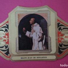 Vitolas de colección: VITOLA DE:CUADRO DE PINTORES ESPAÑOLES,BEATO JUAN DE HOUGHTON-ZURBARAN,SERIE II,DE ALVARO. Lote 106752183