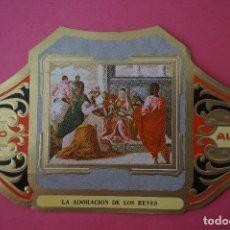 Vitolas de colección: VITOLA DE:CUADRO DE PINTORES ESPAÑOLES,LA ADORACION DE LOS REYES-EL GRECO,SERIE II,DE ALVARO. Lote 106752703