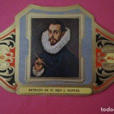 Vitolas de colección: VITOLA DE:CUADRO DE PINTORES ESPAÑOLES,RETRATO DE SU HIJO J.MANUEL-EL GRECO,SERIE II,DE ALVARO. Lote 106753063