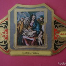 Vitolas de colección: VITOLA DE:CUADRO DE PINTORES ESPAÑOLES,SAGRADA FAMILIA-EL GRECO,SERIE II,DE ALVARO. Lote 106753447
