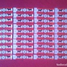 Vitolas de colección: COLECCIÓN LOTE DE 40 VITOLAS CIGAR BANDS HIERROS DE GANADERÍAS DE TOROS ESPAÑOLAS TABACOS AZTECA MÉX. Lote 107874203