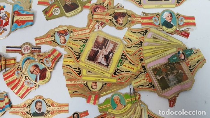 Vitolas de colección: COLECCIÓN DE 251 VITOLAS PARA PUROS. VARIAS SÉRIES. CROMOLITOGRAFÍAS. SIGLO XX. - Foto 10 - 111759955