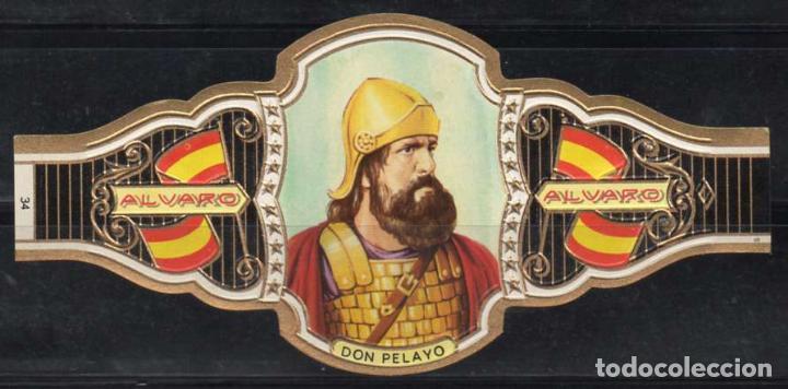 ALVARO, REYES DE ESPAÑA, Nº 34, ORO VIEJO. (Coleccionismo - Objetos para Fumar - Vitolas)