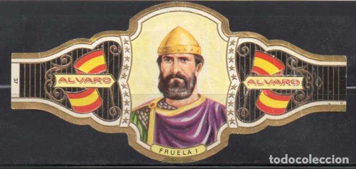 ALVARO, REYES DE ESPAÑA, Nº 37, ORO VIEJO. (Coleccionismo - Objetos para Fumar - Vitolas)