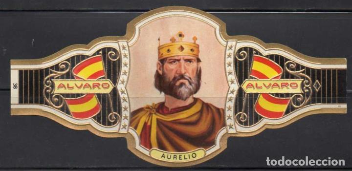 ALVARO, REYES DE ESPAÑA, Nº 38, ORO VIEJO. (Coleccionismo - Objetos para Fumar - Vitolas)