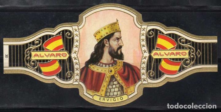 ALVARO, REYES DE ESPAÑA, Nº 30, ORO CLARO. (Coleccionismo - Objetos para Fumar - Vitolas)