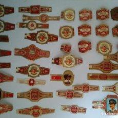 Vitolas de colección: LOTE DE 40 VITOLAS. PUROS, TABACOS, ALBACO, VENCEDOR, HABANA, CUBA, CAPOTE, TROYA, FARIAS, ETC.... Lote 116652511