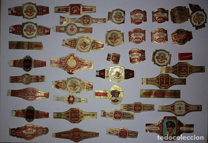 Vitolas de colección: Lote de 40 vitolas. Puros, tabacos, albaco, vencedor, habana, cuba, capote, troya, farias, etc... - Foto 12 - 116652511