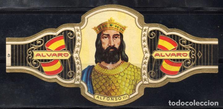 ALVARO, REYES DE ESPAÑA, Nº 45, ORO CLARO. (Coleccionismo - Objetos para Fumar - Vitolas)